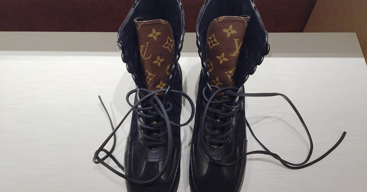 ca9f7df6e1f The army boots from Louis Vuitton